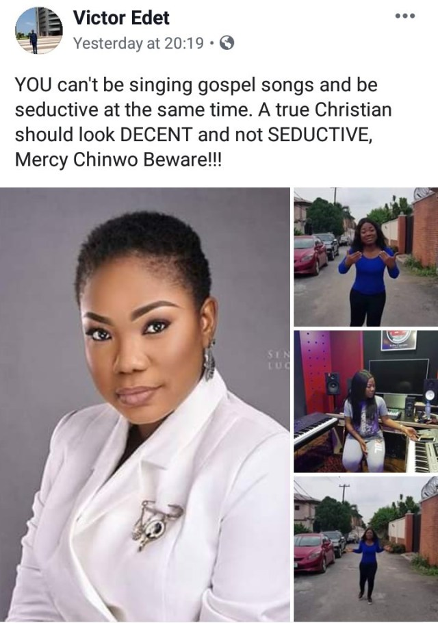 ExternalLink_5e730e11ccc2e An Evangelist Rebuke Mercy Chinwo:  You can't be singing gospel songs and be seductive