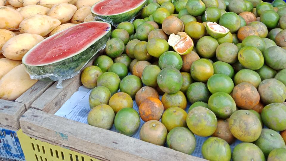 village market fruit in koh yao noi