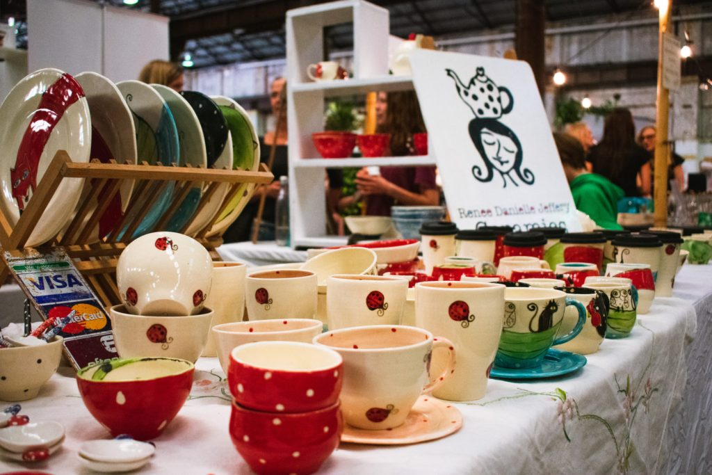 Sydney tea festival mugs display