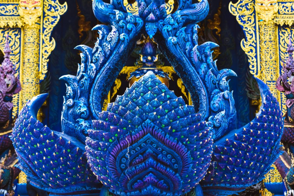 Blue Temple Chiang Rai Outside Features