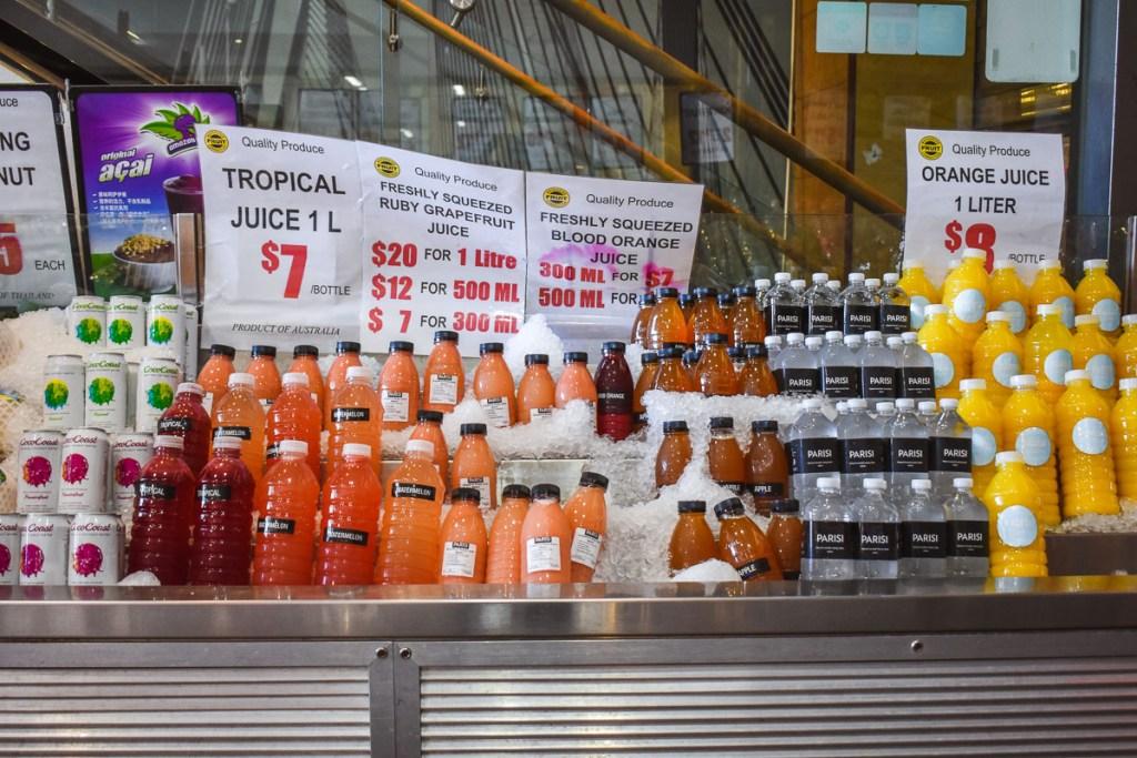 Drinks at the Sydney fish market