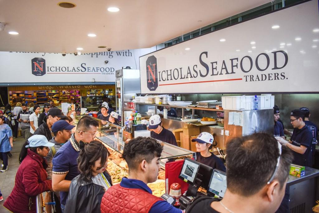 Nicholas seafood counter