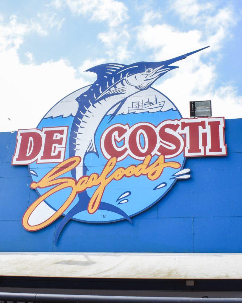 Decosti seafood sign