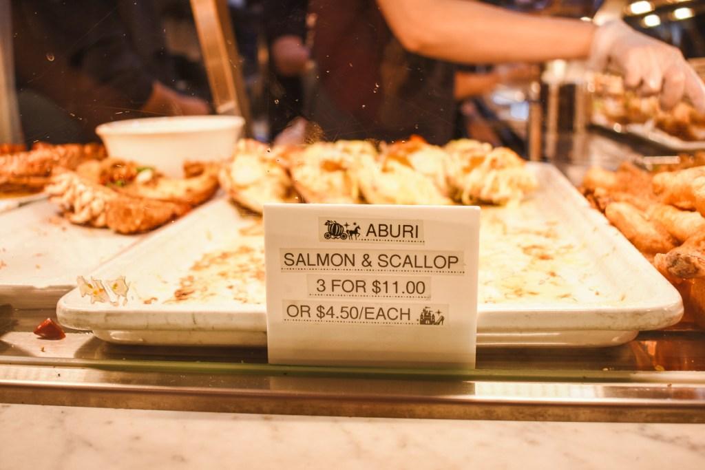 Aburi salmon and scallop