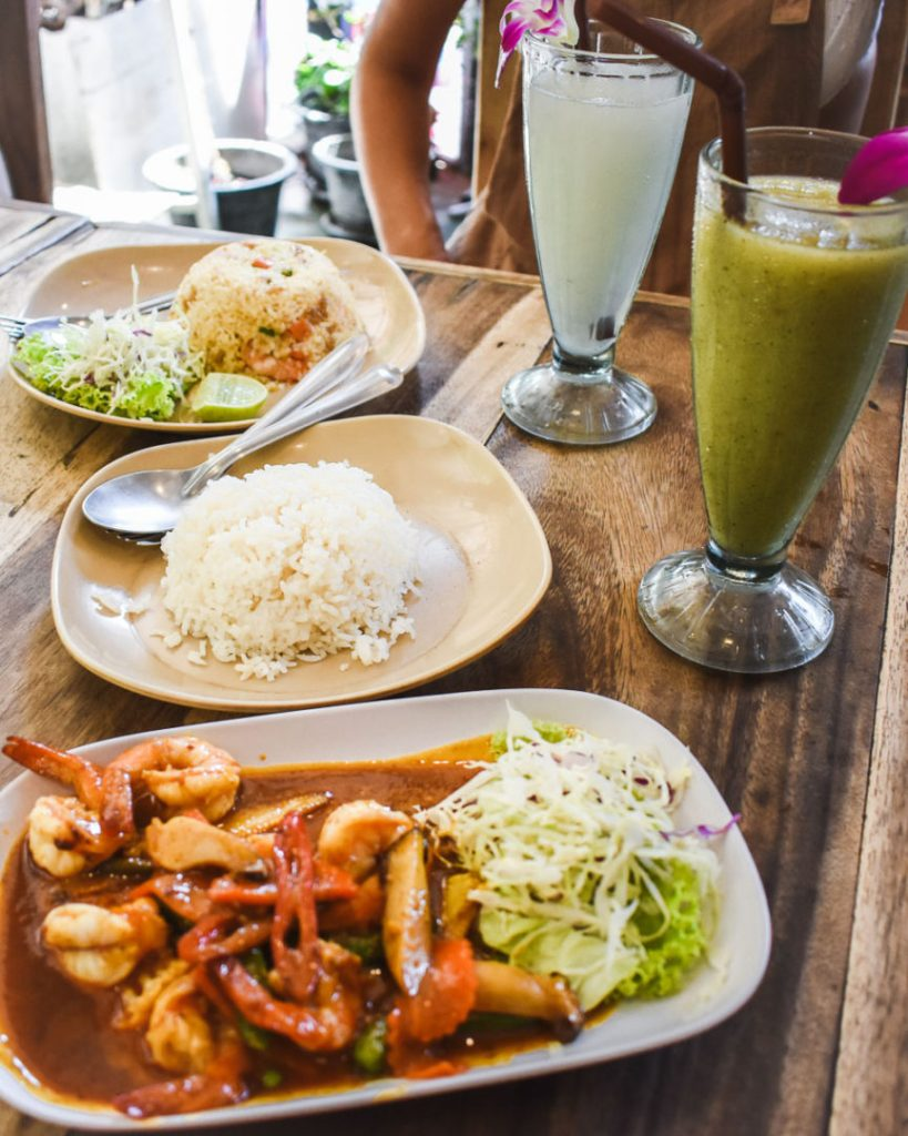 Thai food on Railay beach