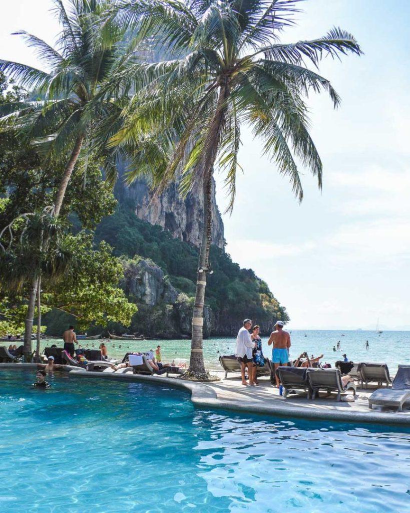 railay beach pool and hotel