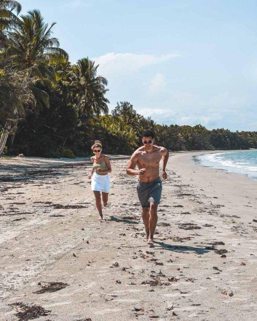 Running on the 4 mile beach port douglas