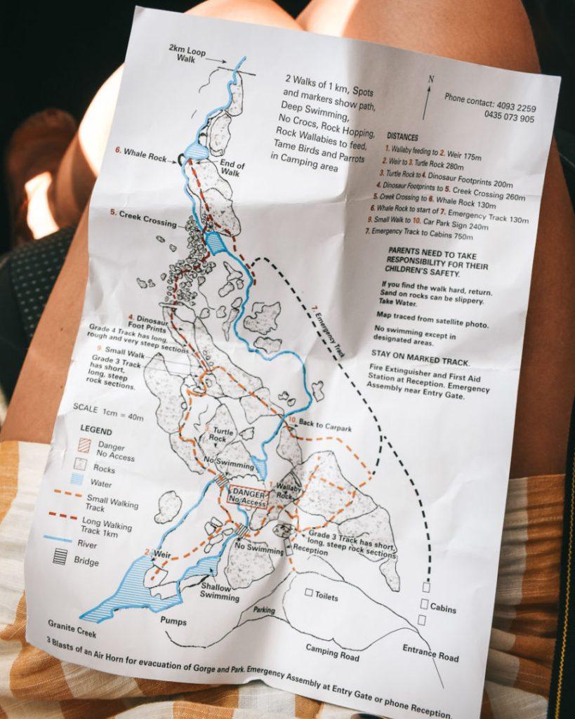 Granite Gorge Nature Park Map