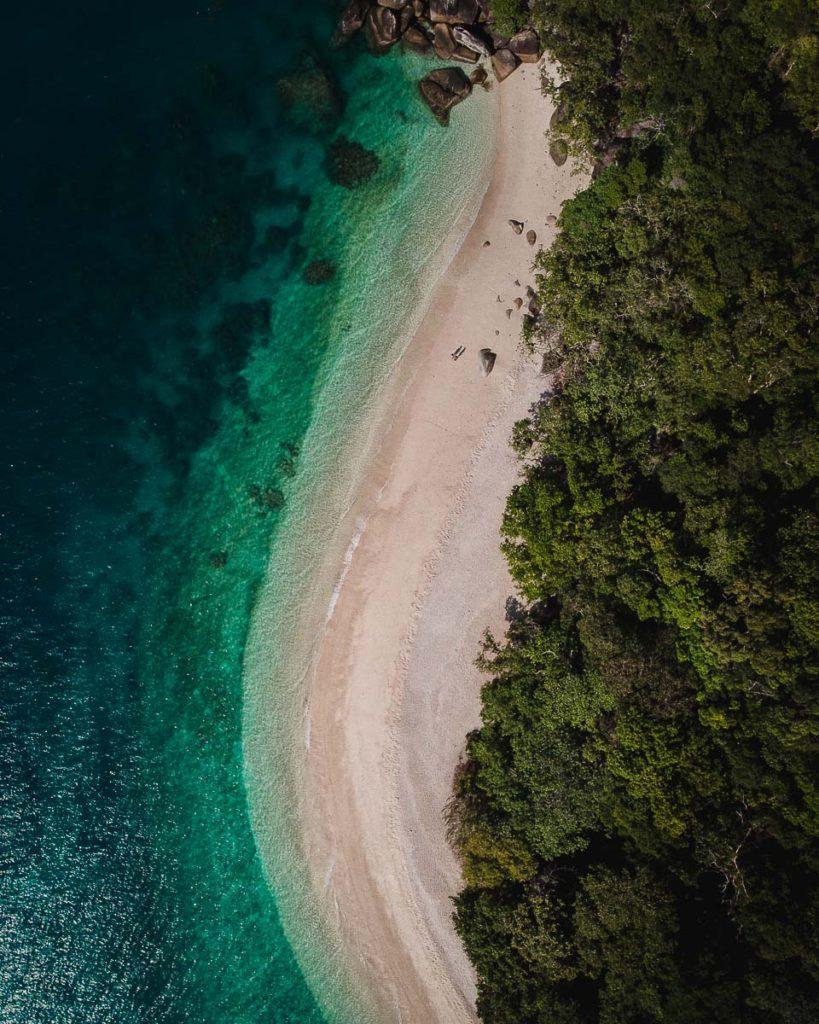Nudey beach on Fitzroy island Sky View