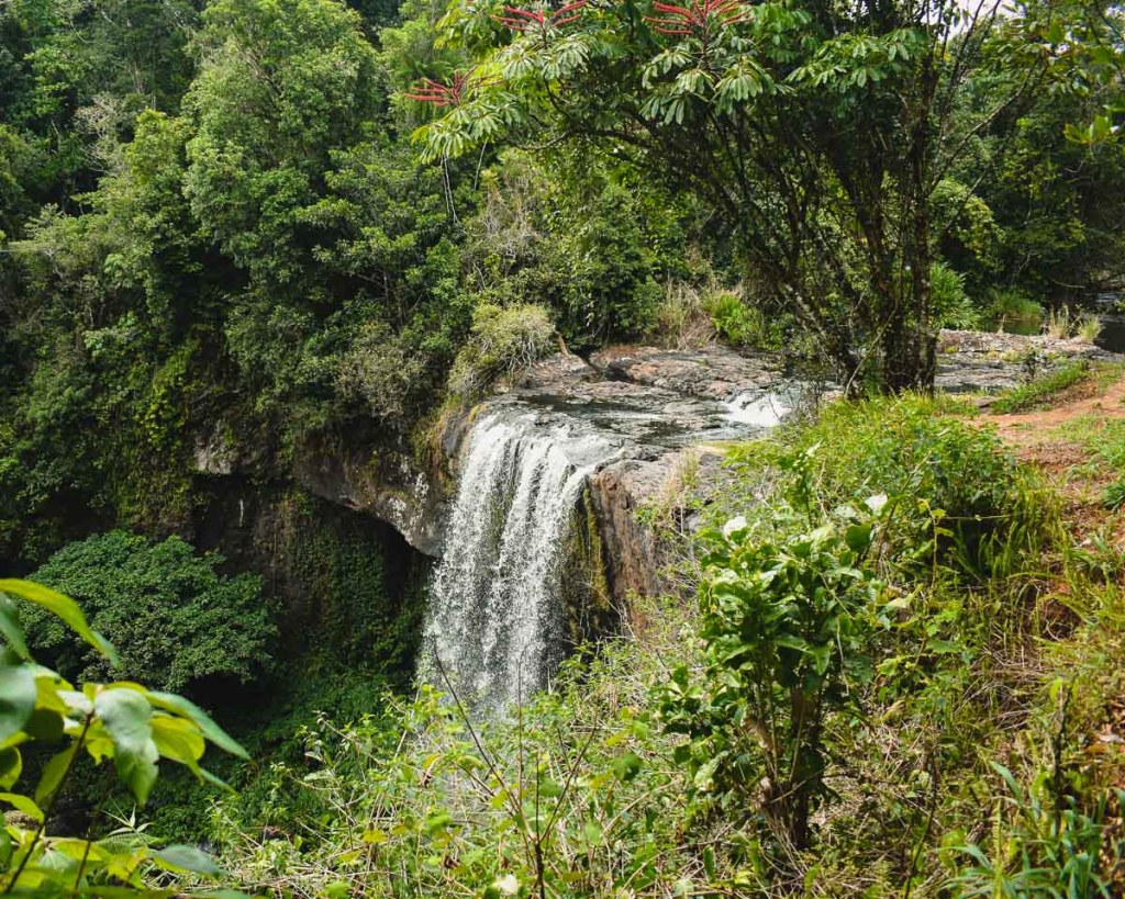 Top of Zillie Falls waterfall