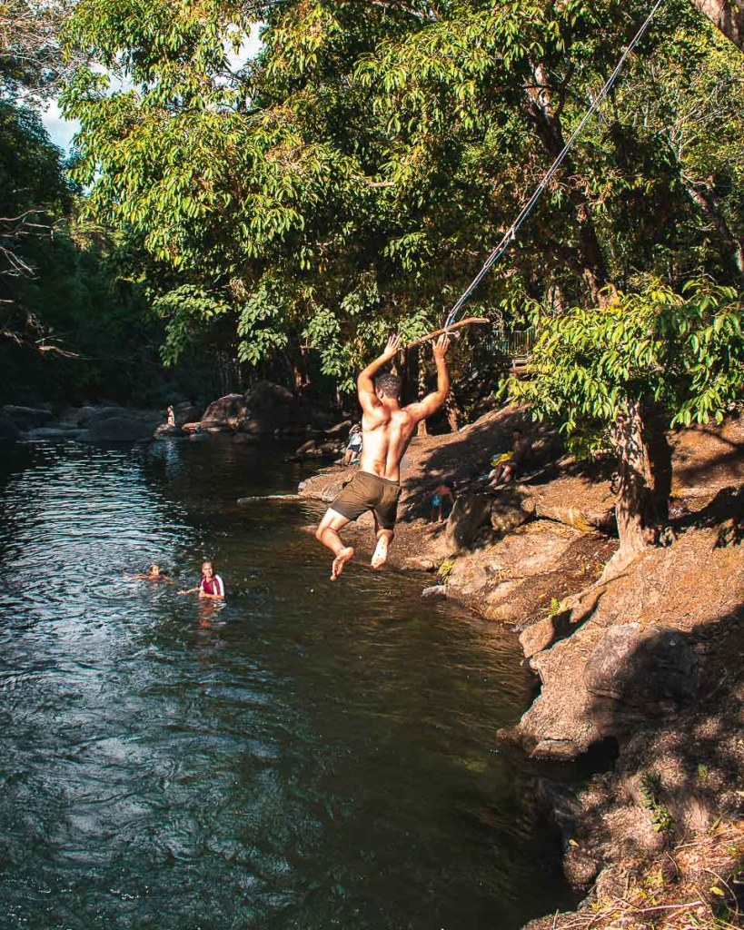 The Crystal Cascades Swimming Hole Cairns swing