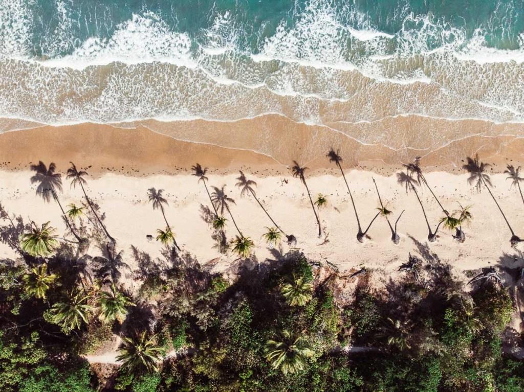 Mission beach drone shot