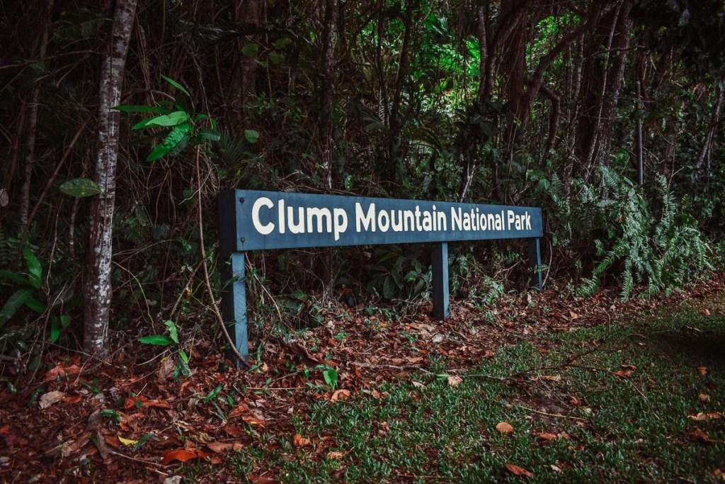 clump mountain national park sign