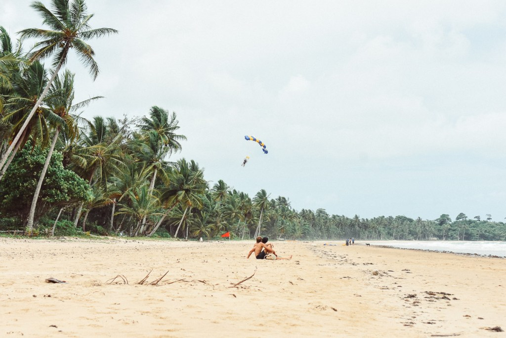skydivers on mission beach
