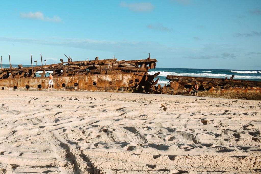 Fraser Island shipwreck beach