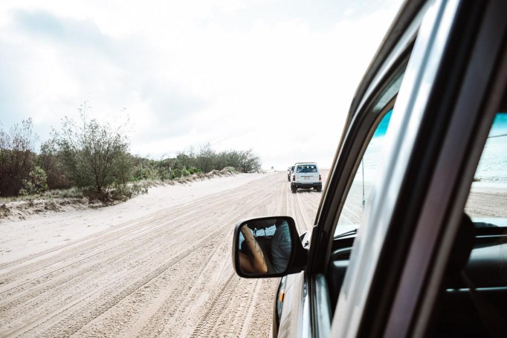 Driving on Fraser Island Sand