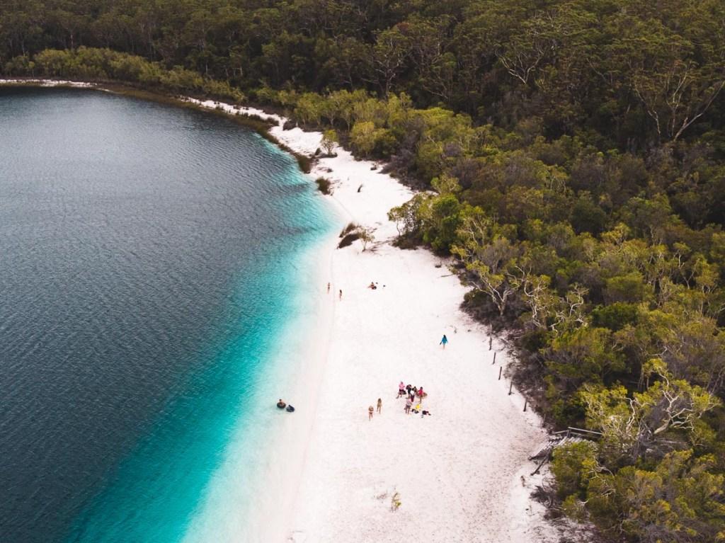 Lake McKenzie also known as 'Boorangoora' meaning 'Waters of Wisdom'.