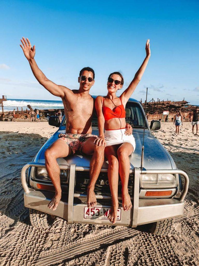 Tag-along Fraser Island tour shipwreck