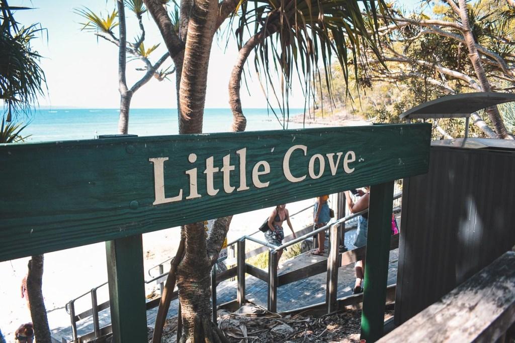 Little cove beach sign