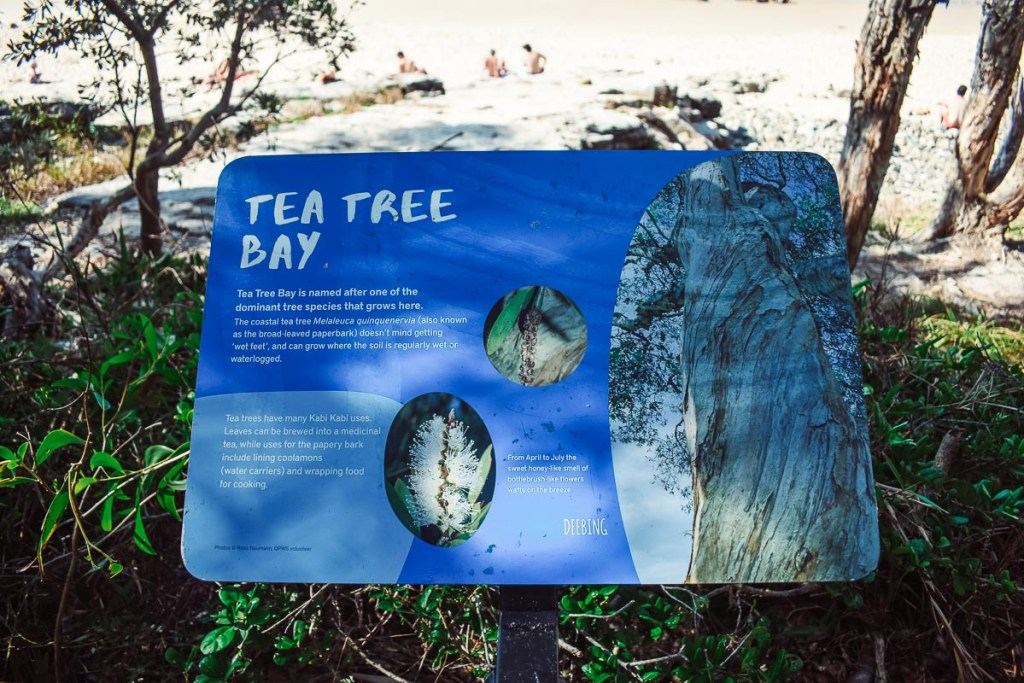 Tea Tree Bay Sign
