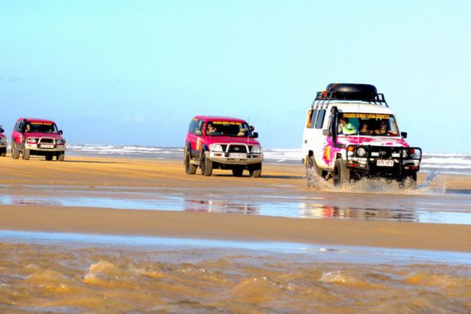 Pink 4WD 2 Day Fraser Island tours from Hervey Bay