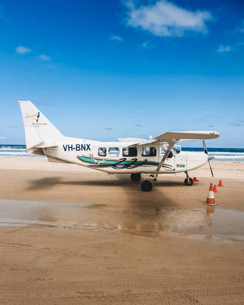 Flying on Fraser Island Australia