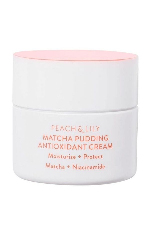 peach and lily matcha pudding cream