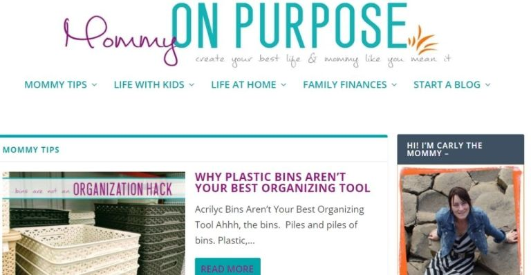 Mommy on Purpose - Best Blog Topic That Makes Money