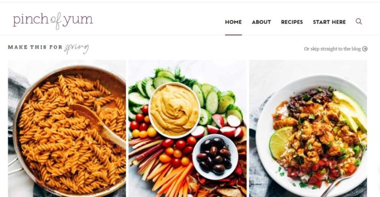 Pinch of Yum - Unique Blog Niche That Drives Traffic and Makes Money