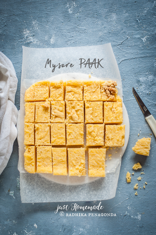 Mysore Pak melt in your mouth sweet