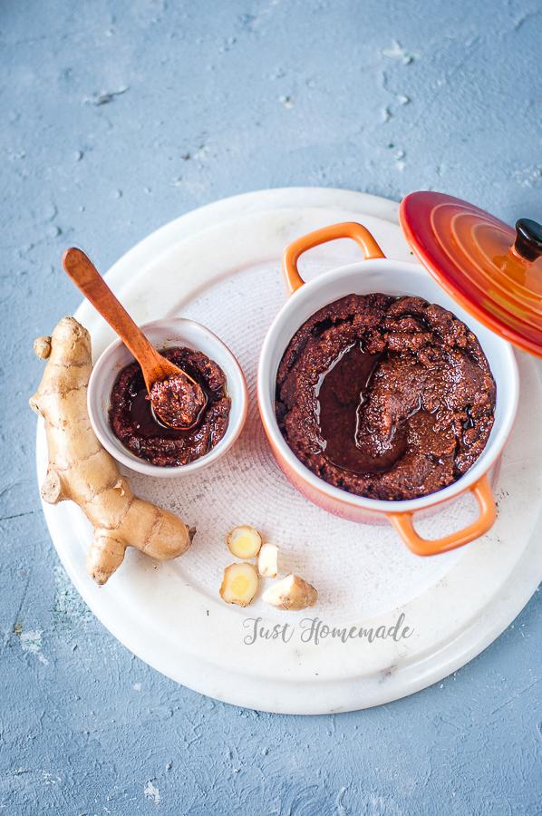 Mamidi allam (Mango Ginger) Pachadi Andhra style