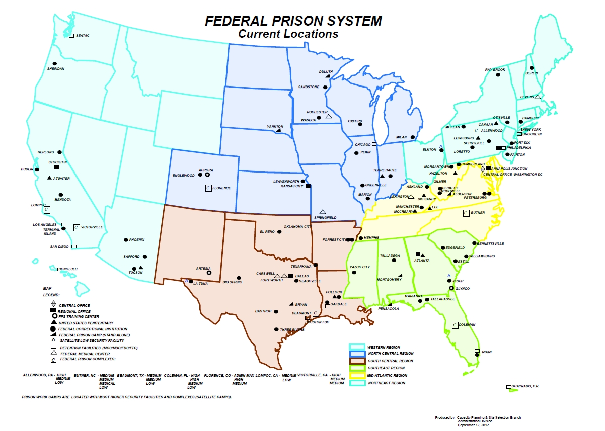 hight resolution of federal bureau of prisons field structure
