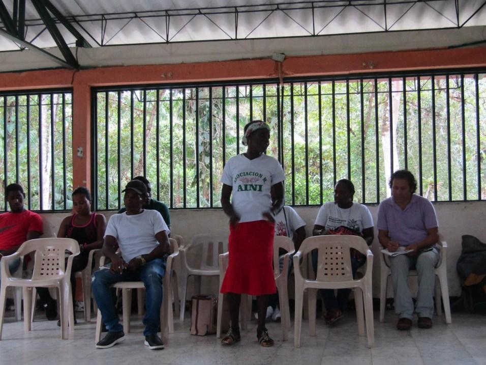 Aida Mosquera, docente comunitaria, formadora en espacios de mujeres de la cuenca del Naya