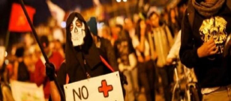 Protesta violencia