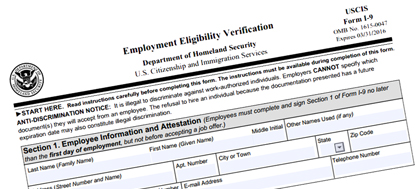 New Form I-9 Released from the USCIS for Employment