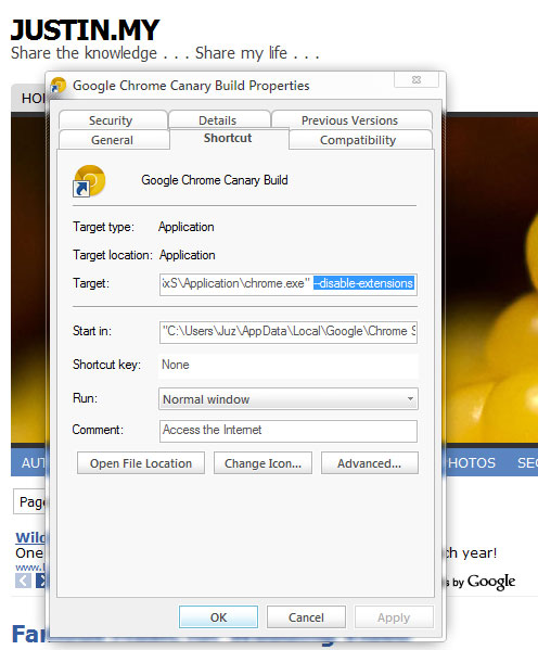 Chrome Canary Build Cannot Run