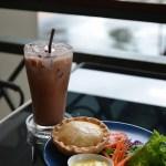 Iced Chocolate with Tuna Pie
