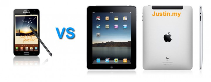 Samsung Galaxy Note vs Ipad 2
