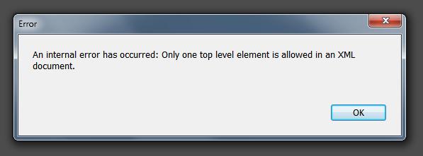 An internal error