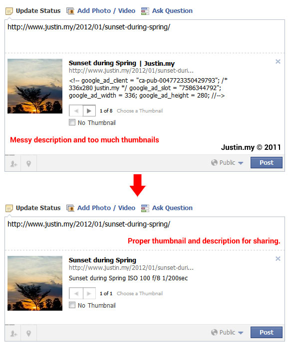 How to fix facebook thumbnail from wordpress