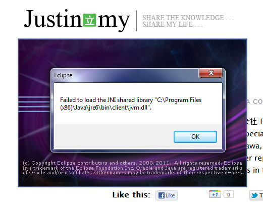 Failed to load the JNI shared library jvm.dll  Justin.my