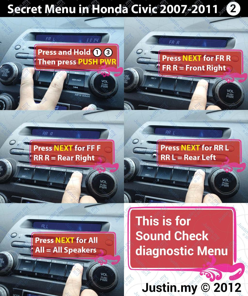 Secret Menu in Honda Civic 2007 2011 2 01