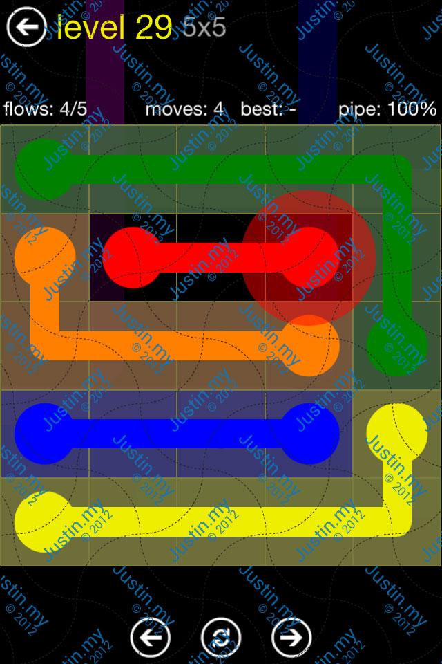 Flow Free Regular Pack 5x5 Level 29