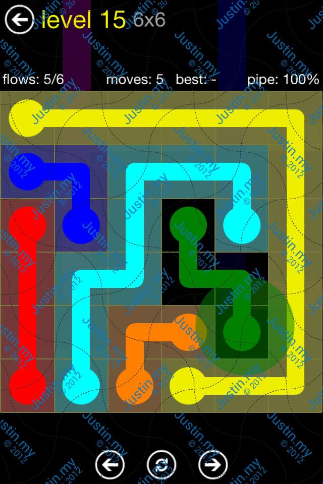 Flow Free Regular Pack 6x6 Level 15