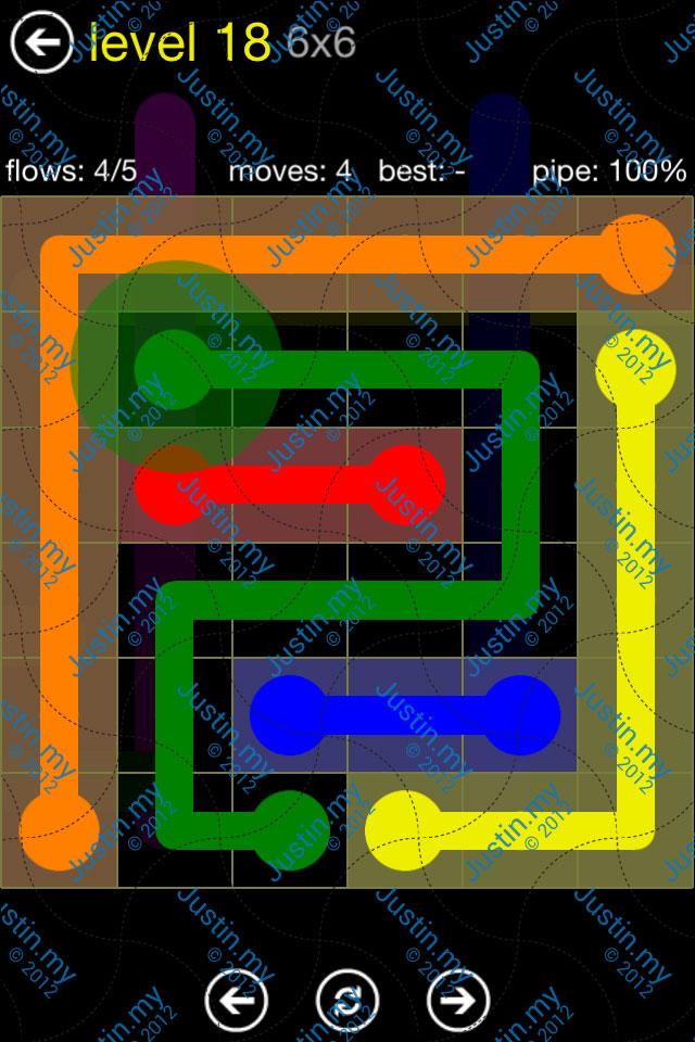 Flow Free Regular Pack 6x6 Level 18