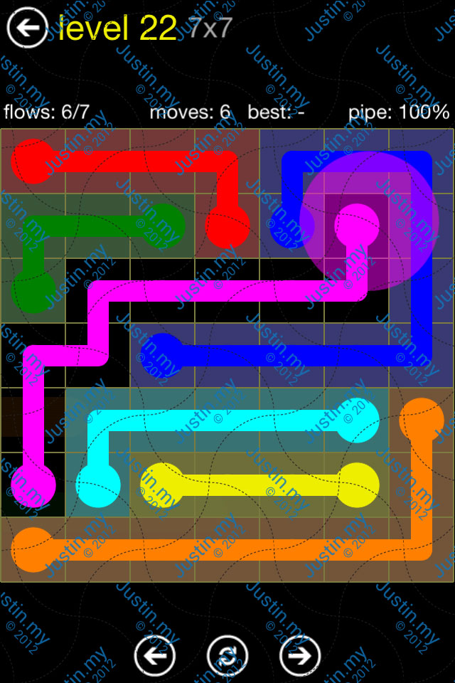 Flow Free Regular Pack 7x7 Level 22
