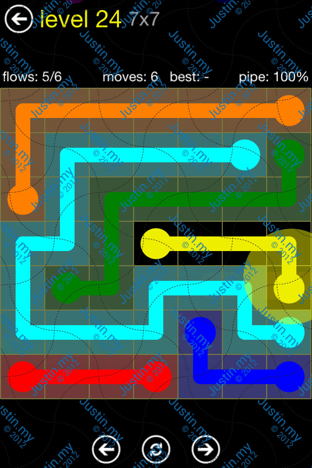 Flow Free Regular Pack 7x7 Level 24