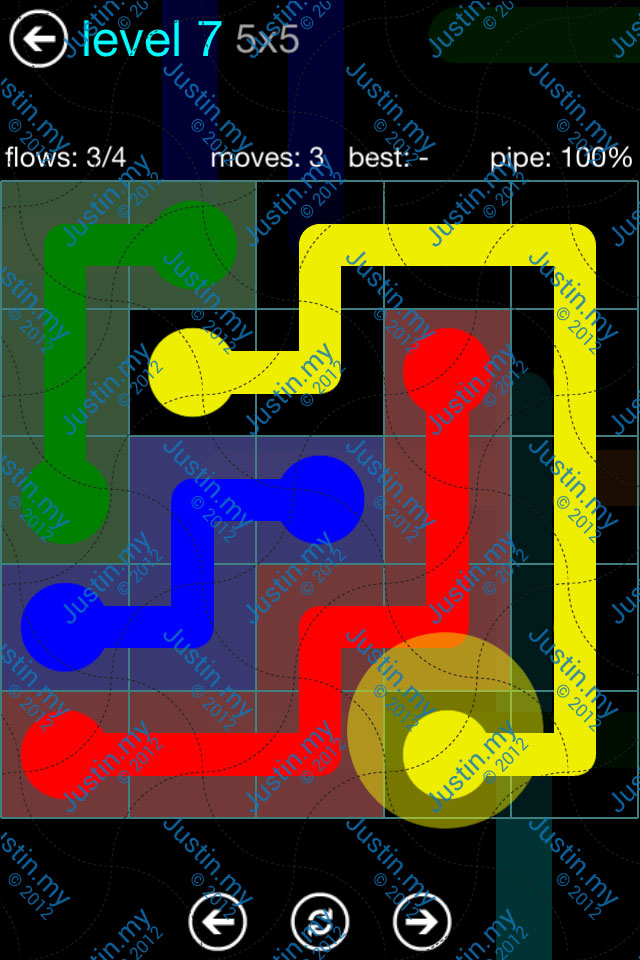 Flow Game Blue Pack 5x5 Level 07