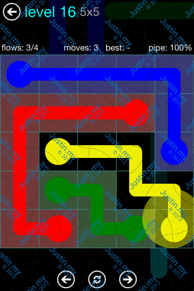 Flow Game Blue Pack 5x5 Level 16
