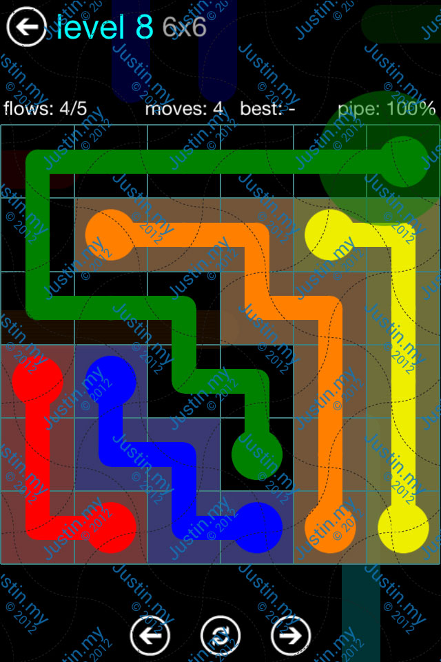 Flow Game Blue Pack 6x6 Level 07